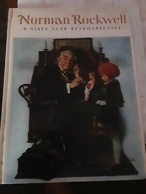 $ CDN13.18 • Buy VTG Coffee Table Book AMERICA Sixty Year Retrospective Norman Rockwell ART USA