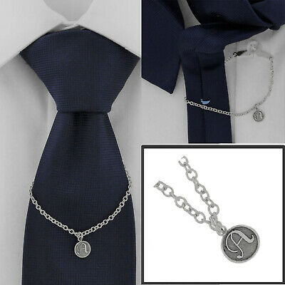 $21.21 • Buy Ky & Co Initial A Silver Tone Tie Chain Button Hole Attachment 7.5  USA Made