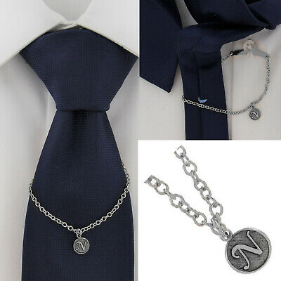 $21.21 • Buy Ky & Co Initial N Silver Tone Tie Chain Button Hole Attachment 7.5  USA Made