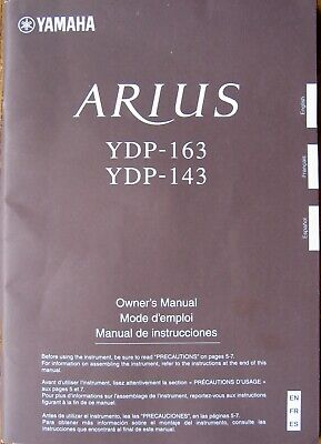 AU35.36 • Buy Yamaha YDP-163 YDP-143 Digital Piano Original Owner's Operating Manual Booklet