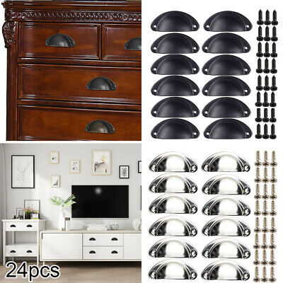 AU30.58 • Buy 24x Cupboard Door Cabinet Cup Drawer Furniture Retro Antique Pull Shell Handle