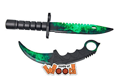 $ CDN30.86 • Buy CS:GO Wooden Knife Karambit And M9 Bayonet Zombie Hunter 15-109-3