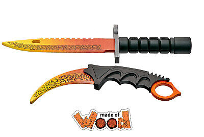 $ CDN30.86 • Buy CS:GO Wooden Knife Karambit And M9 Bayonet Lore 13-122-3