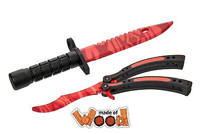 $ CDN30.86 • Buy CS:GO Wooden Knife M9 Bayonet And Butterfly Knife Slaughter 11-115-3