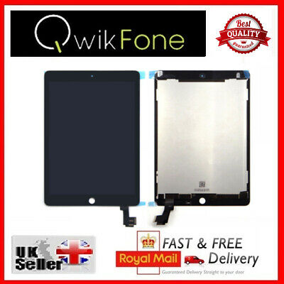 For Apple IPad Air 2 IPad 6 Black Replacement LCD Digitizer Touch Screen UK • 99.26£