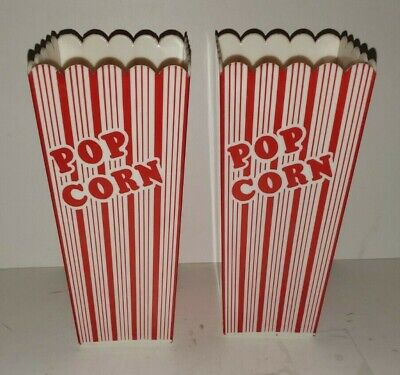 Retro Circus Style Party Size Plastic Reusable Popcorn Containers Set/2 Small  • 10.22£