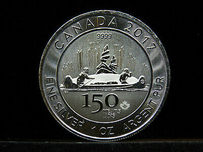 $ CDN42 • Buy 2017 1 Oz Silver Maple Leaf Coin $5 CANADA Voyageur 150 Years Ans 9999 Fine