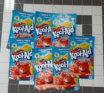 7 Pack Tropical Punch Kool Aid.Expires March 29,2022 • 6.51£