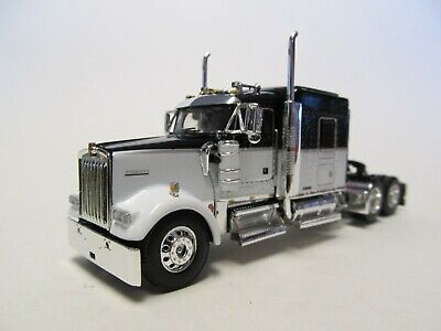 $ CDN100.01 • Buy Dcp 1/64 Scale W-900 Kenworth Midroof, Black & White, Black Engine With Red Top