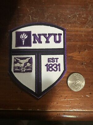"$6.99 • Buy NYU UNIVERSITY Vintage Embroidered Iron On Patch 3.5"" X 2.5"""