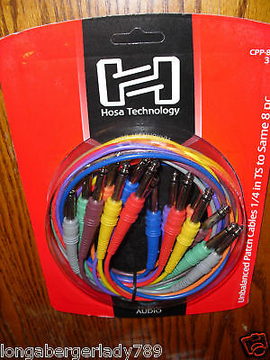 $ CDN36.78 • Buy 8 Hosa 3' Colored Patch Cables Cord Cable 4 Guitar Bass Effects Pedal Bay Record
