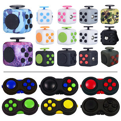 AU11.49 • Buy Fidget Hand Finger Cube 3D Focus Stress Reliever Toy Gift Magic For Kids Adults