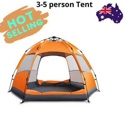 AU105.99 • Buy 2020 New Arrivals Instant Setup 3-5 Person Double Layer Tents For Camping