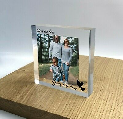 £13.99 • Buy Personalised Block Plaque Photo 3D Effect 2020 Picture Frame Wedding Family Gift
