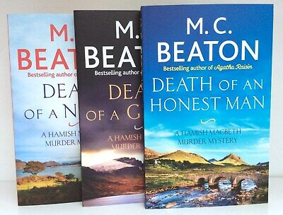 Hamish Macbeth Collection G 3 Books Death Of A Nurse Ghost Honest Man M C Beaton • 10.50£