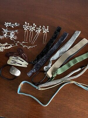 $0.99 • Buy Hair Accessories Lot Head Bands Pins Clips Rhinestones NEW