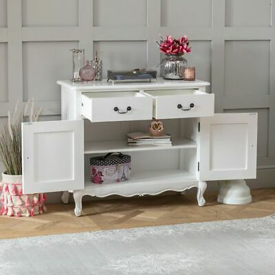 French Chateau White Painted 2 Drawer 2 Door Sideboard-EX-DISPLAY-FW22-F147 • 229£