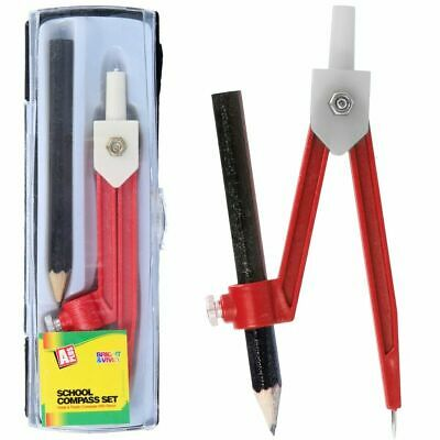 £2.63 • Buy Drawing Compass Set In Hard Case Technical Exam Circle Measure Pencil Maths