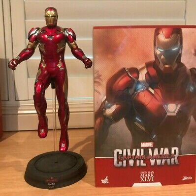 AU485 • Buy Hot Toys 1:6 Scale Iron Man Mk46 PPS003 Captain America Civil War- Used