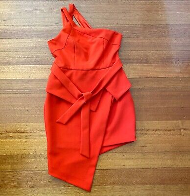 AU97 • Buy NEW Ladies Red Dress Size12 Forever New Formal Orange Red Colour Womens Clothing
