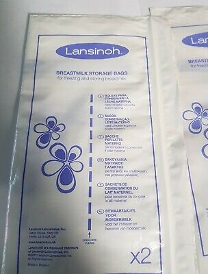 Lansinoh Pre-Sterilised Breastmilk Baby Breast Milk Storage Bags X2  Pack Of 2 • 3.30£