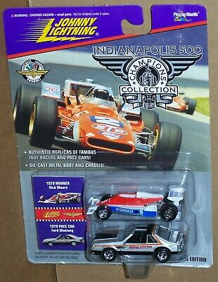 $6.95 • Buy Johnny Lightning Indianapolis 500 1979 Rick Mears & 1979 Pace Car Ford Mustang