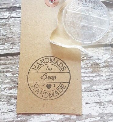 Personalised Handmade By Rubber Stamp Handmade By 'Your Name' • 9.50£