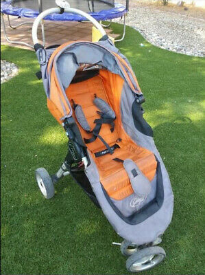 Baby Jogger City Mini Single Seat Stroller Orange With Double Drink Carrier!! • 43.41£