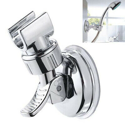 Shower Head Holder Suction Bracket Wall Mount Adjustable Handset Kit Bathroom • 4.29£