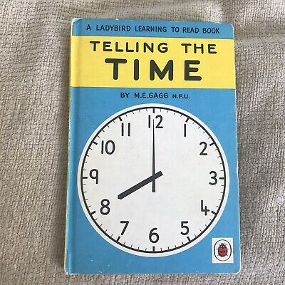 1970's Telling The Time - M. E. Gagg(Wingfield Illust)563 Series Ladybird Books • 8£