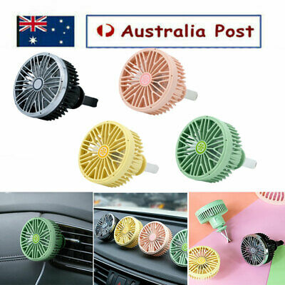 AU12.75 • Buy Car Air Vent Fan USB Powered 360 Degrees Rotating Clip-on Adjustable Mini Fan