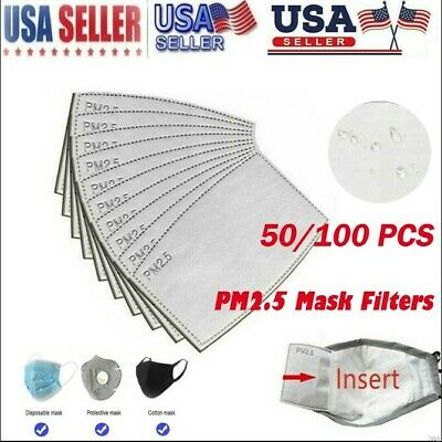 $ CDN13.02 • Buy 50/100pcs Pm2.5 Replaceable Protection Filter Activated Carbon Filter US