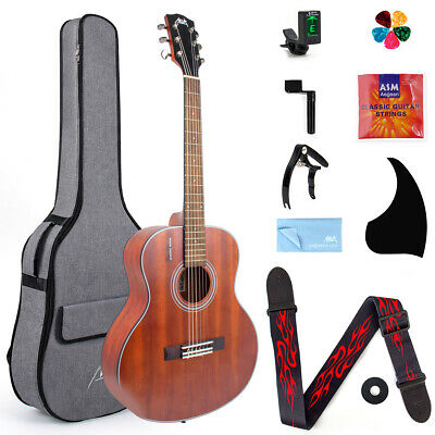 AU123.99 • Buy AKLOT Travel Acoustic Guitar With Classical String 36 Inch Mahogany W/Bag Tuner