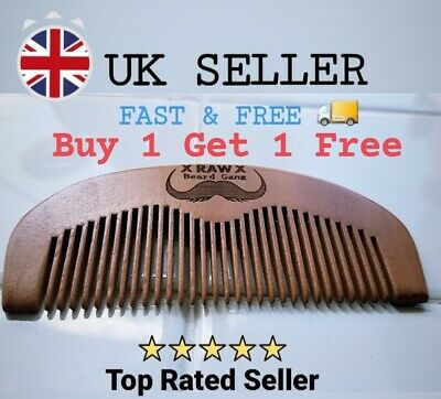 Beard And Hair Comb 100% Natural Wood Top Quality For Mens Grooming  • 3.29£