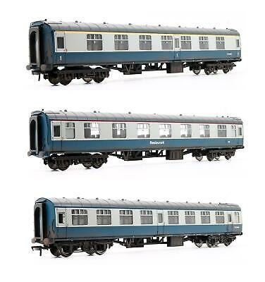 Bachmann 'oo' Gauge Rake Of 3 Br Blue Grey Mk1 Passenger Coaches • 119.50£