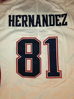 $55 • Buy NWT Aaron Hernandez #81 New England Patriots All Sewn Jersey White, Large