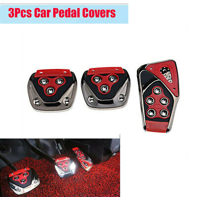 $16.14 • Buy 3Pcs Car Manual Transmission Non-Slip Foot Pedal Pad Covers With Screws And Nuts