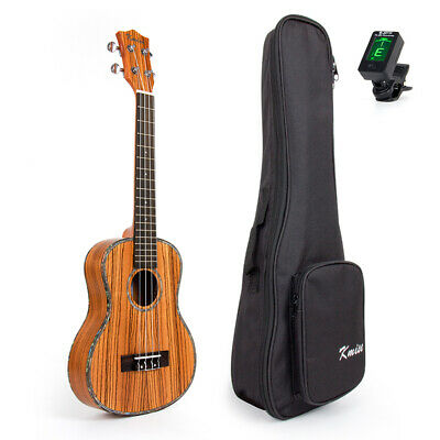 AU72.97 • Buy Kmise Tenor Ukulele Uke Top Laminated Zebra 26 Inch Hawaii Guitar With Bag Tuner