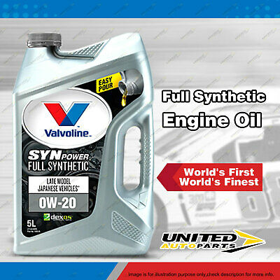 AU201.95 • Buy Valvoline Full Synthetic SynPower 0W-20 Engine Oil 20L For Petrol Engines