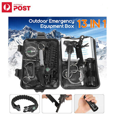AU29.95 • Buy 13 In 1 Outdoor Emergency Survival Equipment Kit Sports Tactical Hiking Camping