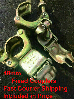 Scaffolding Scaffold Pressed Double Couplers Coupler Clamps Clamp Parts Fittings • 5.99£