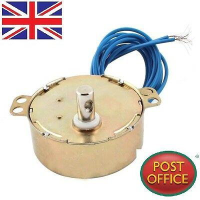 Microwave Oven Synchronous Motor 5/6RPM AC 220-240V 50/60Hz CW/CCW TDY50 • 9.49£
