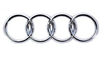 Silver Chrome Front Grille Badge Rings Logo Emblem Audi A3 A4 A5 A6 Sline 273x94 • 9.99£