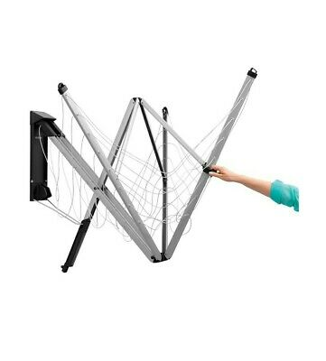 Brabantia WallFix Retractable Washing Line With Fabric Cover, 24 M - Silver • 85£