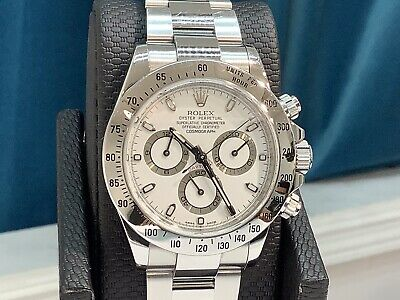 $ CDN25357.37 • Buy ROLEX 116520 DAYTONA CHRONOGRAPH S/S 40mm White Dial V Serial 2010 Full Set! A++