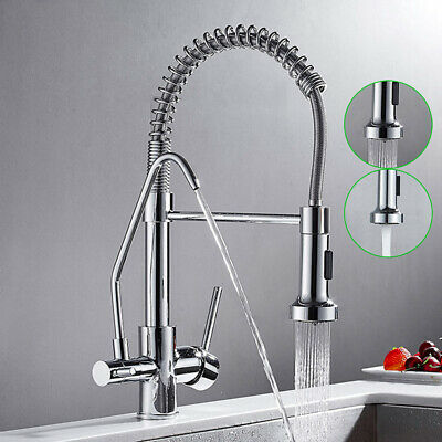 £71.28 • Buy Chrome Filter Drinking Water 3 Way Pure Water Kitchen Double Handle Mixer Tap