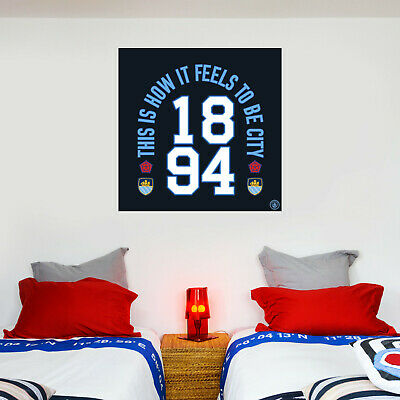 Official Manchester City Wall Sticker This Is How It Feels & Wall Sticker Set • 19.99£