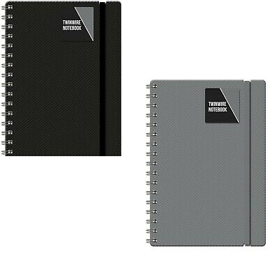 A4 / A5 Note Pad A5 Spiral Poly Pastel Banded Twinwire Notebook Sheet Lined  • 2.99£