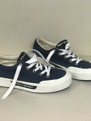 $18.99 • Buy Vintage Polo Ralph Lauren~Blue Fabric Tennis Sneakers~Boat Shoes~Womens Size 8