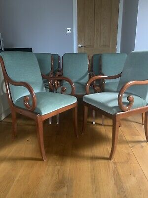 8 Antique French Neoclassical Deco Carver/Dining Chairs Maurice Hirch/Hirsch VGC • 499.99£
